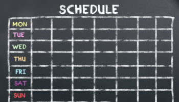 Schedule on board for planning